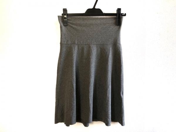 three dots(スリードッツ) ミニスカート サイズ13 L レディース美品  グレー