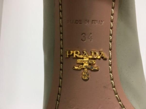 PRADA(プラダ) パンプス 34 レディース グレー リボン エナメル(レザー)