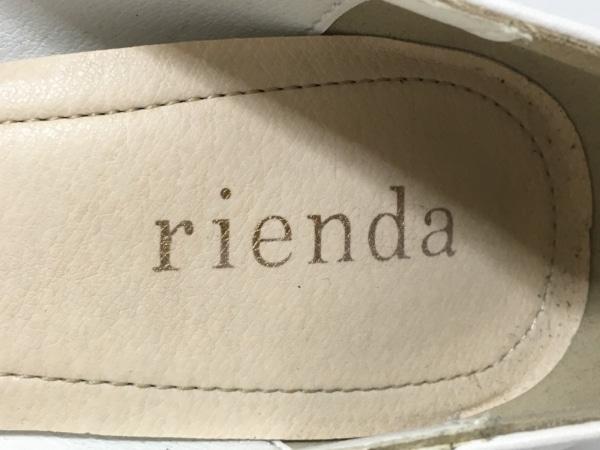rienda(リエンダ) パンプス M レディース 白 合皮