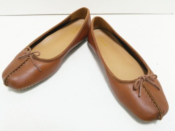 Clarks(クラークス) フラットシューズ 7 レディース ブラウン artisan/リボン レザー