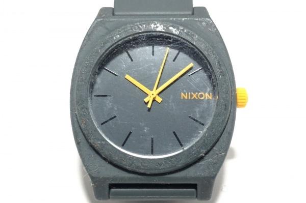 NIXON(ニクソン) 腕時計 - メンズ ラバーベルト ダークグレー