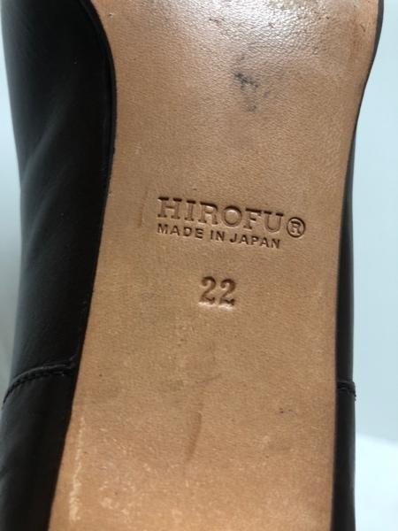 HIROFU(ヒロフ) パンプス 22 レディース ダークブラウン レザー