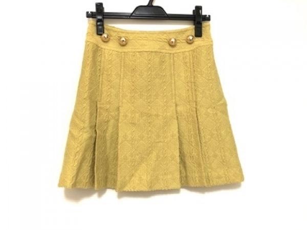 MILLY(ミリー) スカート サイズ0 XS レディース イエロー