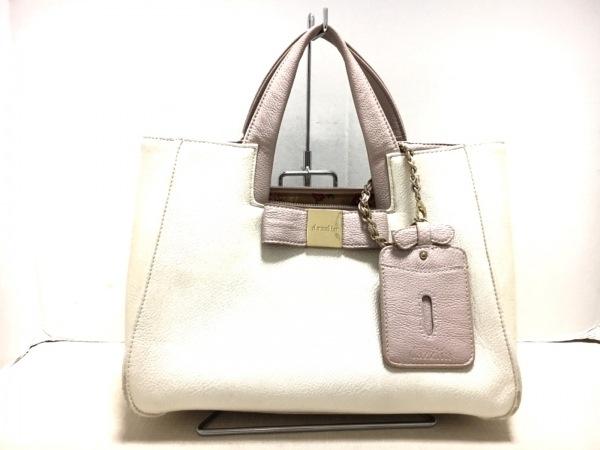 DAZZLIN(ダズリン) ハンドバッグ美品  白×ピンク 合皮