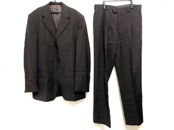 ヴェルサーチクラシック シングルスーツ メンズ美品  ダークブラウン V2