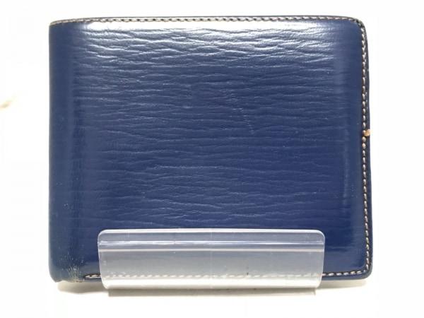 GOLD PFEIL(ゴールドファイル) 2つ折り財布 ブルー レザー