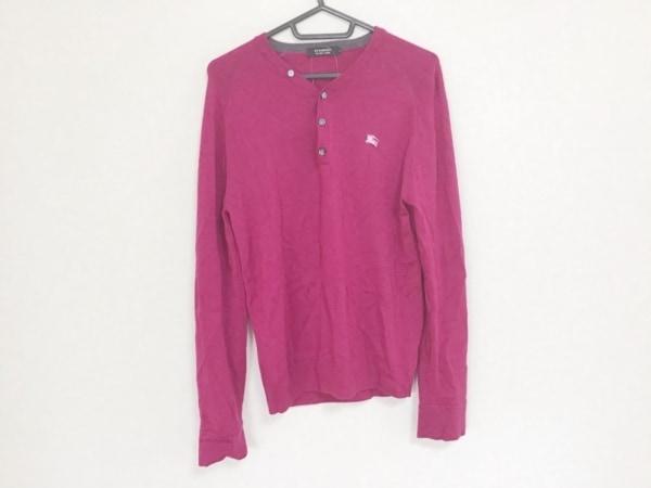 バーバリーブラックレーベル 長袖セーター サイズ2 M メンズ ピンク