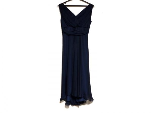 La Defence(ラデファンス) ドレス サイズ9 M レディース ネイビー カシュクール