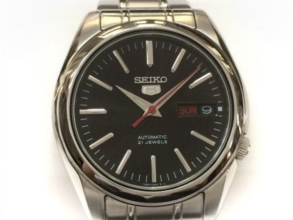 SEIKO(セイコー) 腕時計 ファイブ 7S26-01V0 メンズ 裏スケ 黒