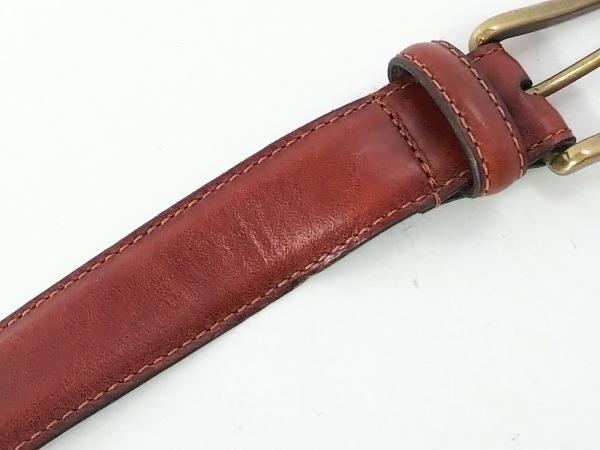 COACH(コーチ) ベルト 75/30 ブラウン×ゴールド レザー×金属素材