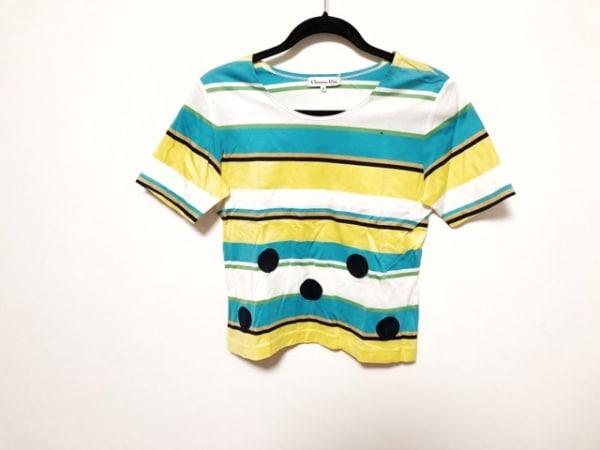 クリスチャンディオール 半袖Tシャツ サイズM M レディース美品  ボーダー/ドット柄