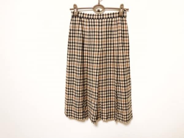 DAKS(ダックス) スカート サイズ66 92 レディース ベージュ×マルチ