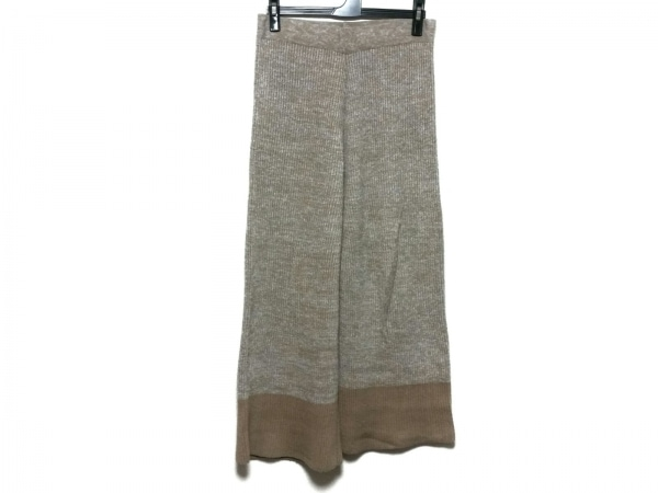jejia(ジェジア) パンツ サイズ40 M レディース美品  ライトブラウン×グレー ニット