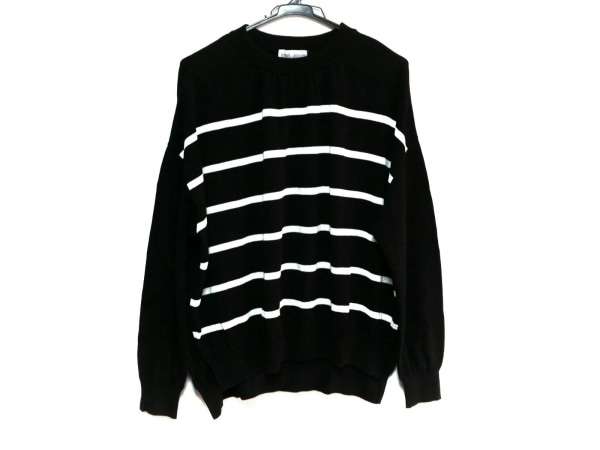 BEARDSLEY(ビアズリー) 長袖セーター サイズF レディース美品  黒×白 ボーダー