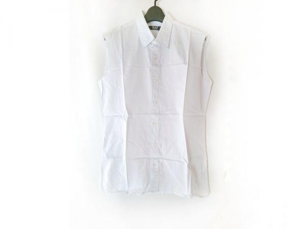 ラフバイラフシモンズ ノースリーブシャツ サイズM メンズ ライトブルー ダメージ加工