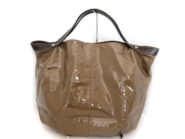 Upla(ウプラ) トートバッグ ブラウン×ダークブラウン PVC(塩化ビニール)×レザー