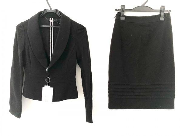 ef-de(エフデ) スカートスーツ サイズ7 S レディース美品  黒