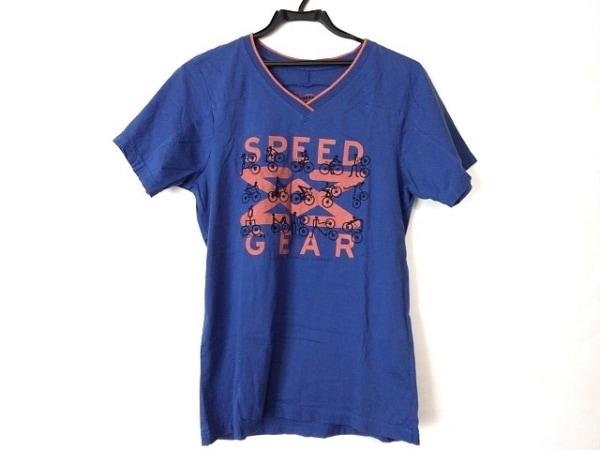 マリテフランソワジルボー 半袖Tシャツ サイズS メンズ ネイビー×オレンジ×黒