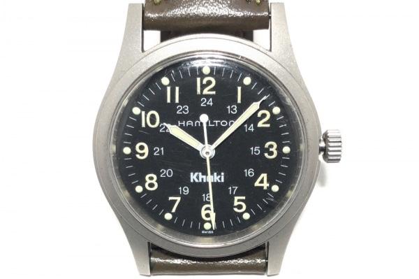HAMILTON(ハミルトン) 腕時計 カーキ 9415A レディース 社外ベルト 黒