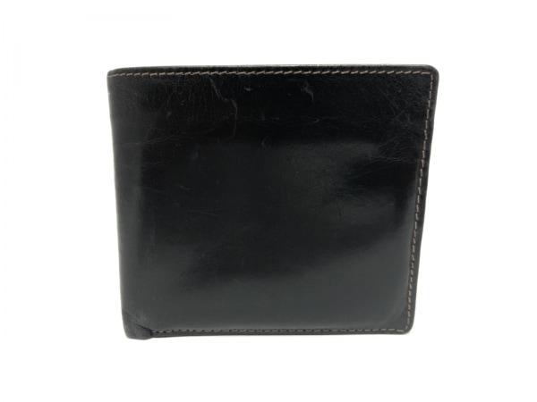 WhitehouseCox(ホワイトハウスコックス) 2つ折り財布 黒 レザー