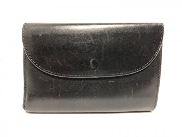 WhitehouseCox(ホワイトハウスコックス) 3つ折り財布 黒 レザー