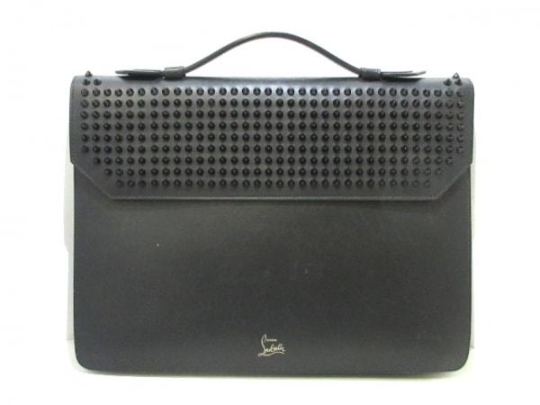 CHRISTIAN LOUBOUTIN(クリスチャンルブタン) ビジネスバッグ 黒 スタッズ レザー