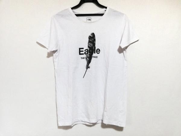 ノースフェイス 半袖Tシャツ サイズL レディース美品  白×黒×グレー