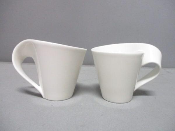 Villeroy&Boch(ビレロイ&ボッホ) マグカップ新品同様  白 マグカップ×2 陶器