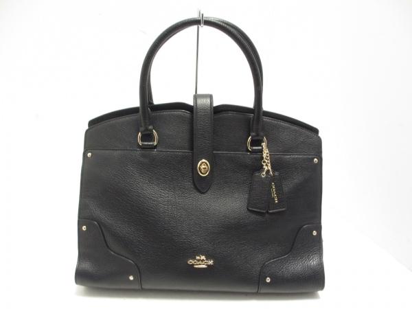 COACH(コーチ) ハンドバッグ美品  マーサーサッチェルグレインレザー 37167 黒 レザー