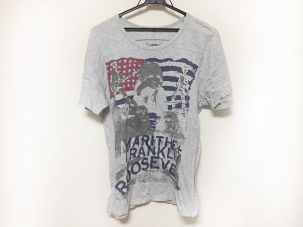 マリテフランソワジルボー 半袖Tシャツ サイズM メンズ美品  ネイビー×レッド