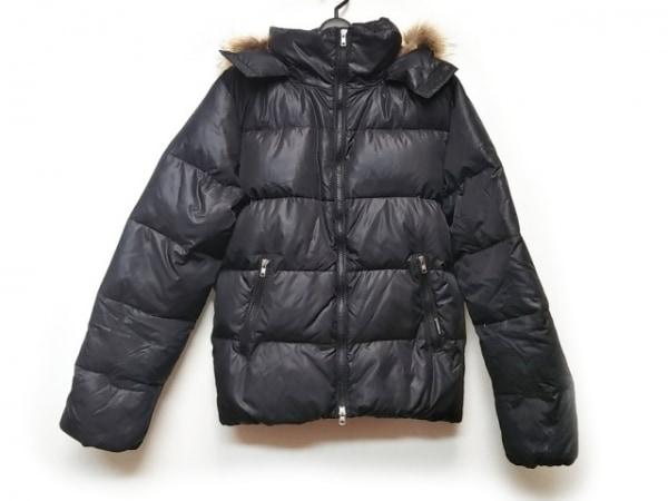 AVIREX(アビレックス) ダウンジャケット サイズM メンズ美品  黒×ライトブラウン