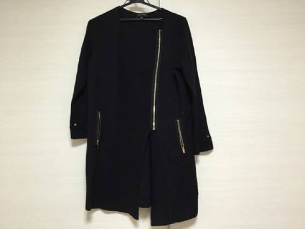 EPOCA(エポカ) コート サイズ40 M レディース 黒 ニット/冬物