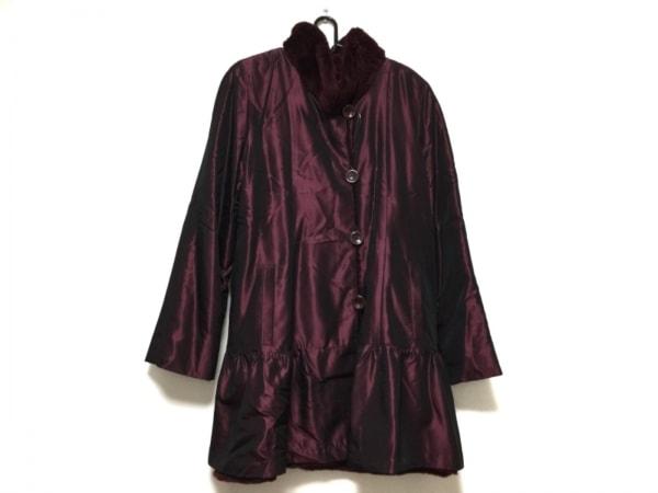 EMBA(エンバ) コート サイズ9 M レディース ボルドー Couture Emba/冬物/ファー