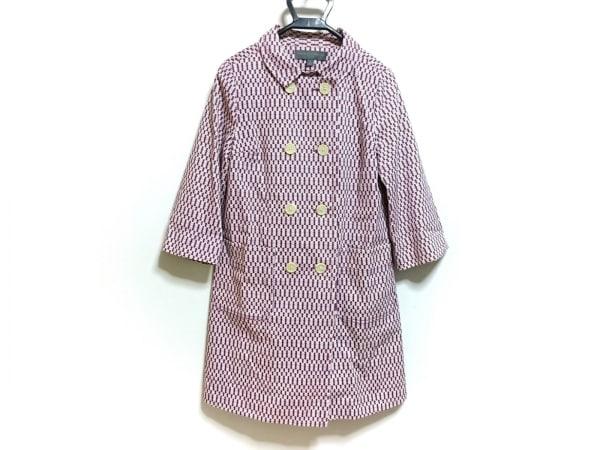 プロエンザスクーラー コート サイズS レディース 白×パープル 春・秋物