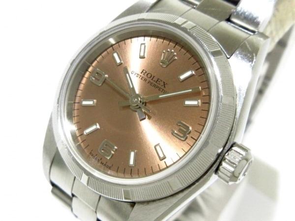 ROLEX(ロレックス) 腕時計 オイスターパーペチュアル 76030 レディース ピンク