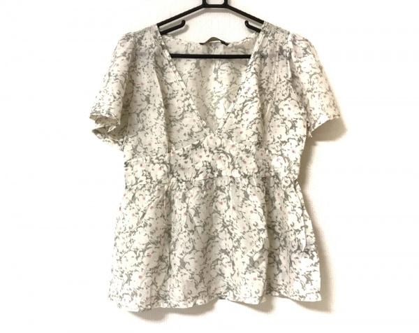 Lovemilla(ラブミラ) 半袖カットソー サイズ38 M レディース美品  ライトグレー 花柄