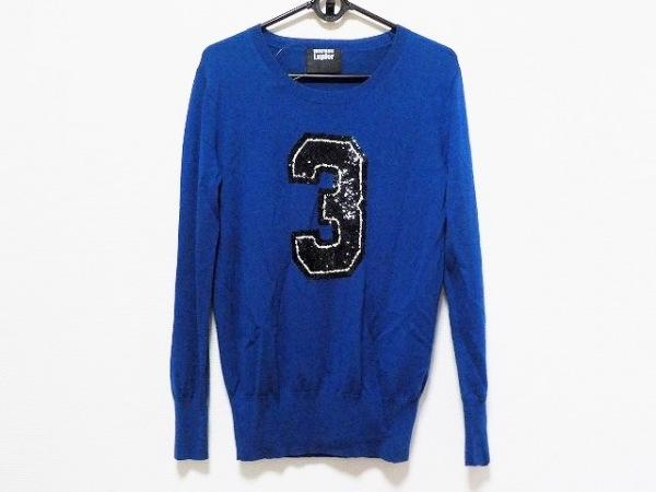 マーカスルプファー 長袖セーター サイズS レディース美品  ブルー×黒×アイボリー