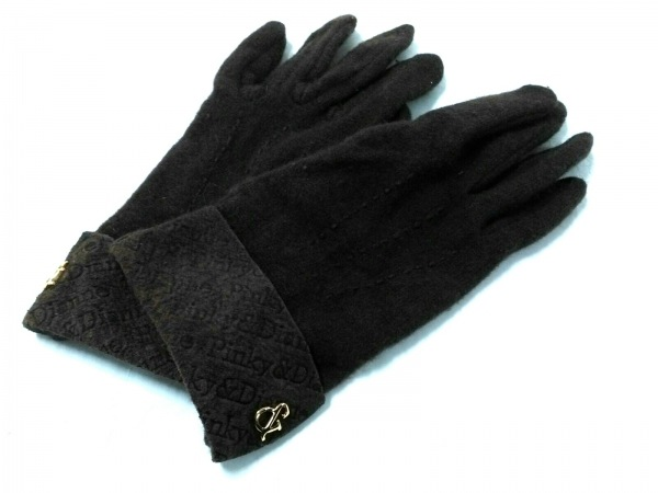 Pinky&Dianne(ピンキー&ダイアン) 手袋 レディース美品  ダークブラウン コットン