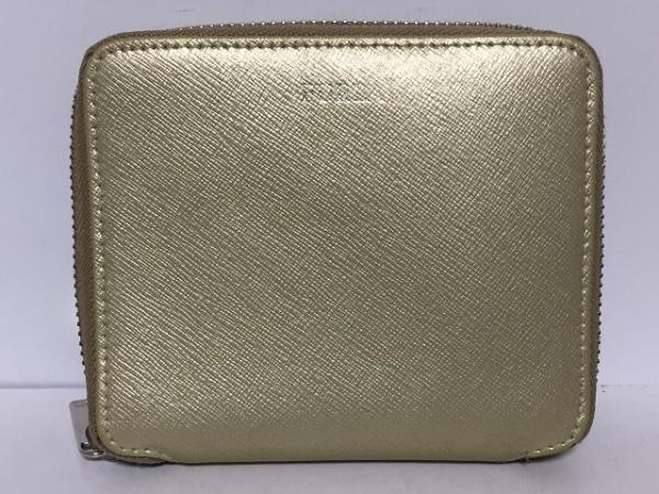 d621b0c163e2 FURLA(フルラ) 2つ折り財布 ゴールド ラウンドファスナー レザーの中古 ...