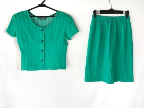 MISS CHLOE(クロエ) スカートセットアップ サイズ40 M レディース グリーン 肩パッド