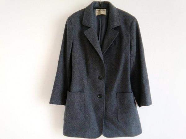 JAEGER(イエガー) コート サイズ8 M レディース美品  ダークグレー 肩パッド