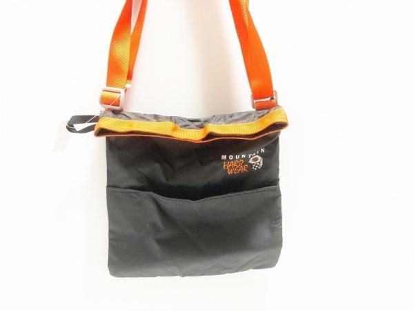 マウンテンハードウェア ショルダーバッグ 黒×オレンジ マチなし ナイロン