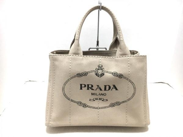 PRADA(プラダ) トートバッグ CANAPA ベージュ キャンバス