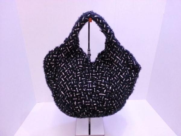 TRENTA SEI(トレンタセイ) トートバッグ ネイビー×白×ゴールド 化学繊維