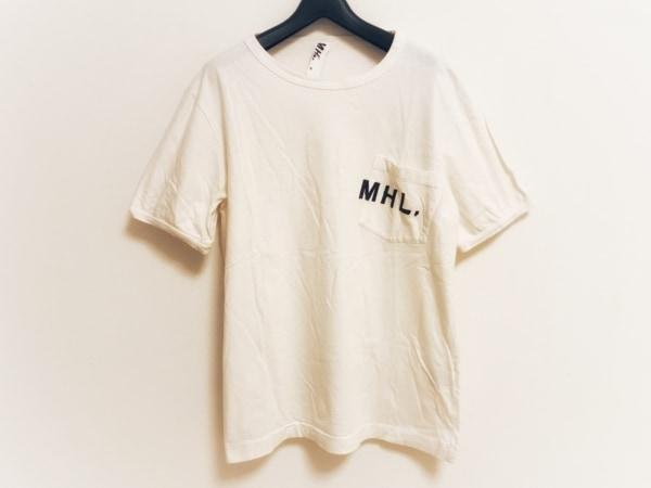MHL.(マーガレットハウエル) 半袖Tシャツ サイズM メンズ アイボリー×黒