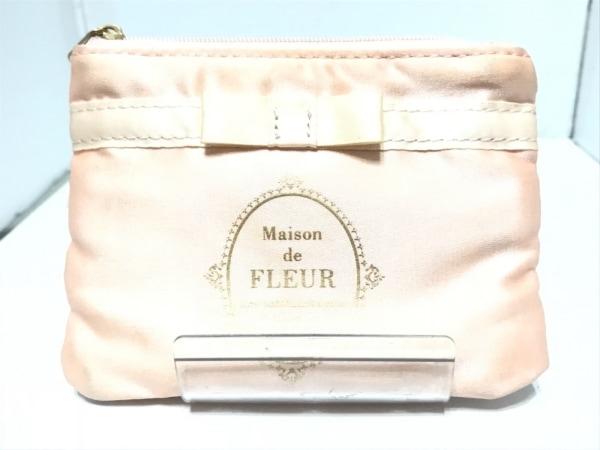 Maison de FLEUR(メゾンドフルール) 小物入れ ピンク ティッシュケース サテン
