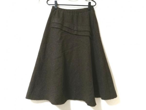 プランテーション ロングスカート サイズM レディース美品  ダークブラウン