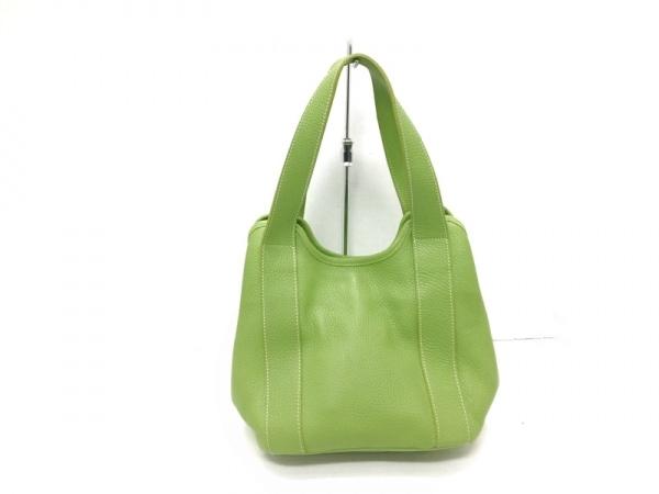 GUIA'S(グイアス) ハンドバッグ美品  グリーン レザー