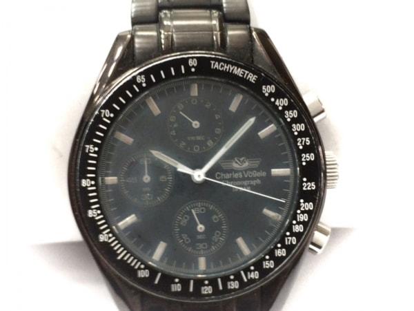 シャルルホーゲル 腕時計 CV-7819R メンズ クロノグラフ ダークネイビー