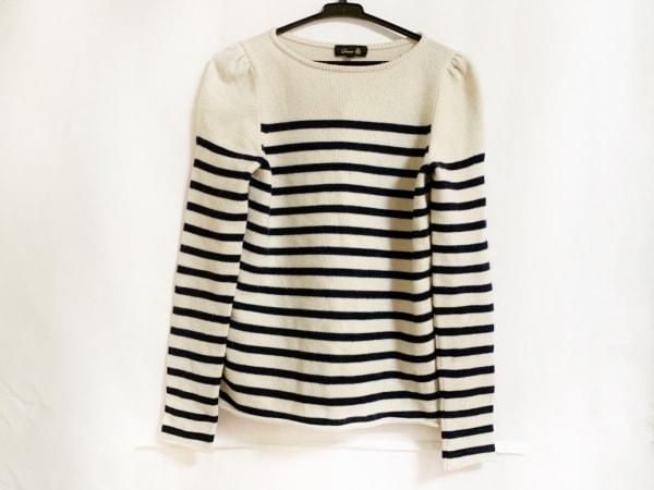 Drawer(ドゥロワー) 長袖セーター サイズ2 M レディース アイボリー×ダークネイビー